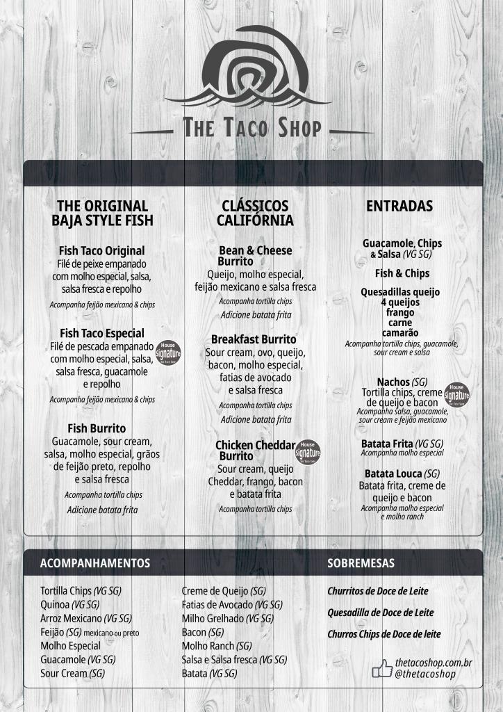 The Taco Shop Cardápio